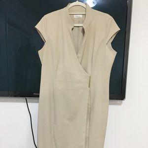 Calvin Klein beige business dress.